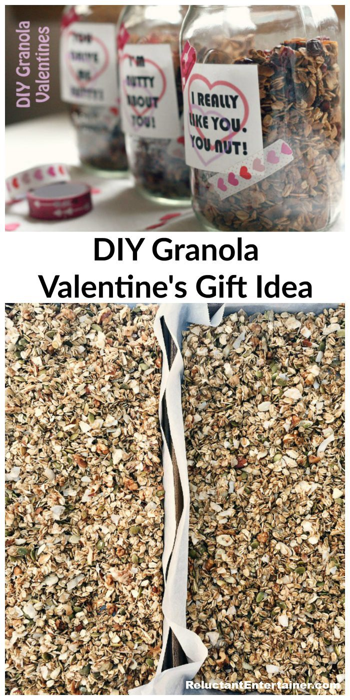 EASY DIY Granola Valentine's Gift Idea