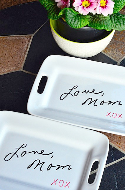 DIY Transfer Handwriting to a Plate Gift Idea