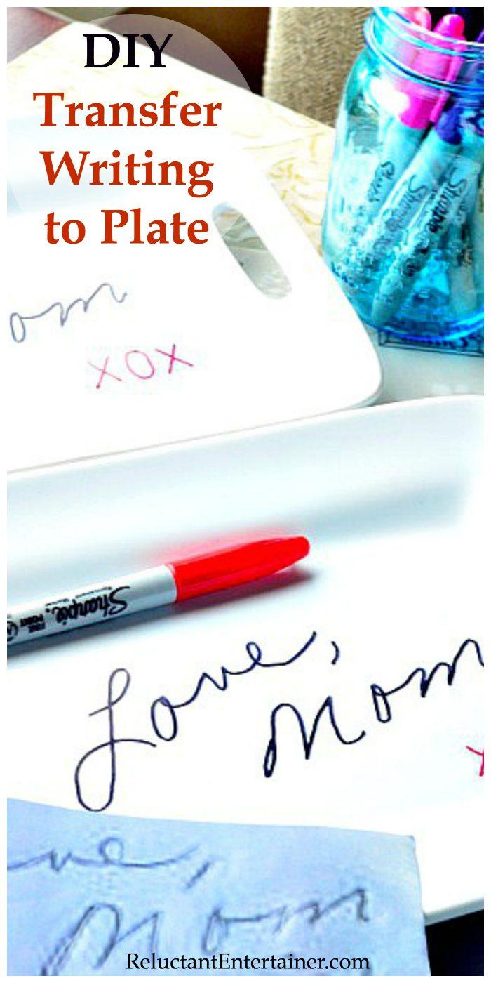 DIY Transfer Handwriting to Plate