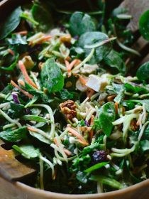 Broccoli Kale Spinach Salad