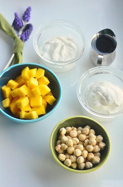 Greek Yogurt with Mango and Turkish Hazelnuts