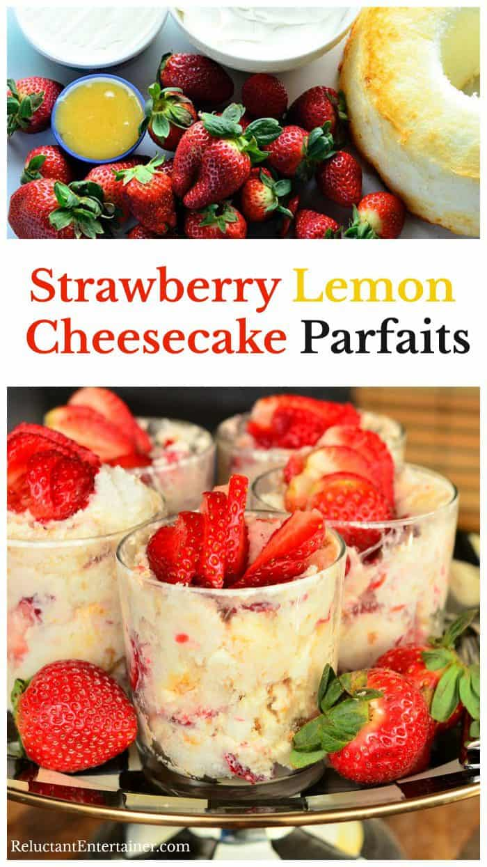 Strawberry Lemon Cheesecake Parfaits Recipe