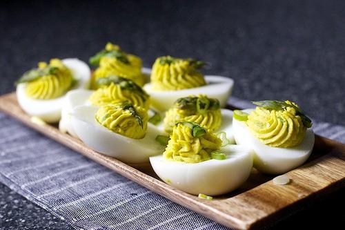 Asparagus-Stuffed Eggs from Smitten Kitchen