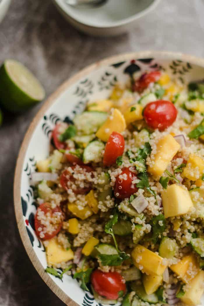 Best Mango Quinoa Salad