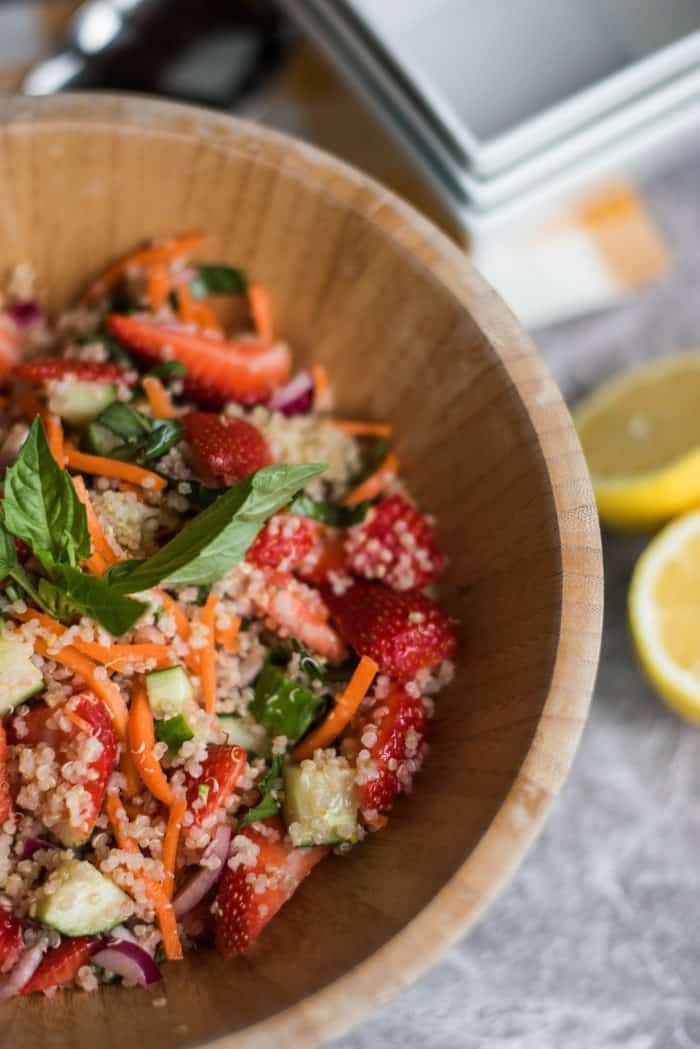 Strawberry Quinoa Salad with Fresh Basil Recipe