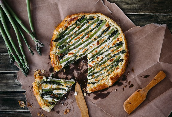 Asparagus Goat Cheese Galette at Simple Bites