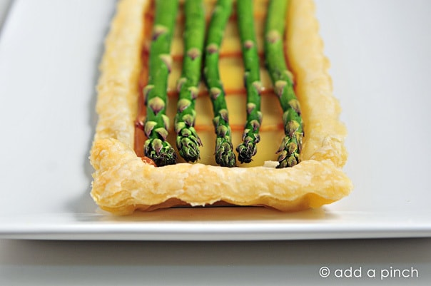 Springtime Asparagus Tart Recipe from Add a Pinch