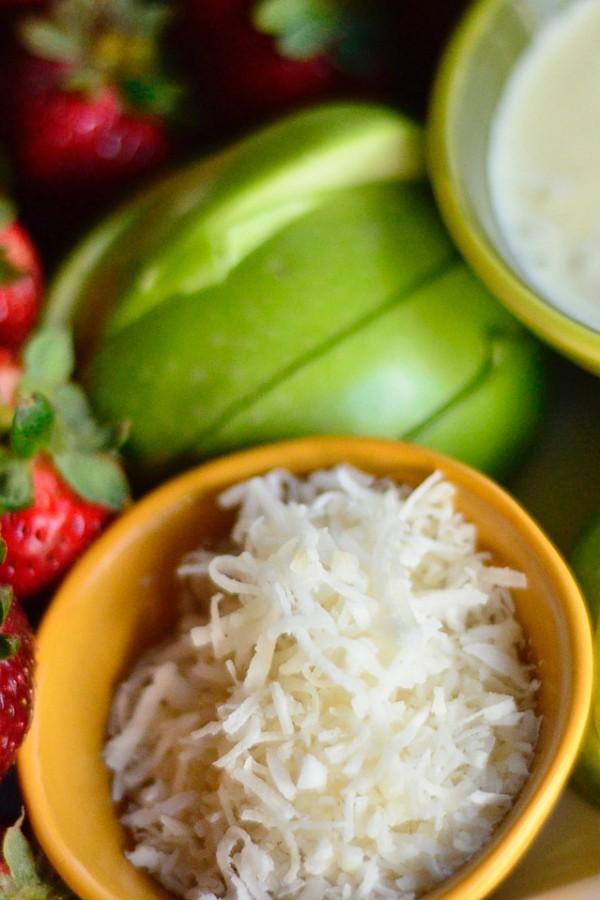 Coconut Curd Fruit Platter