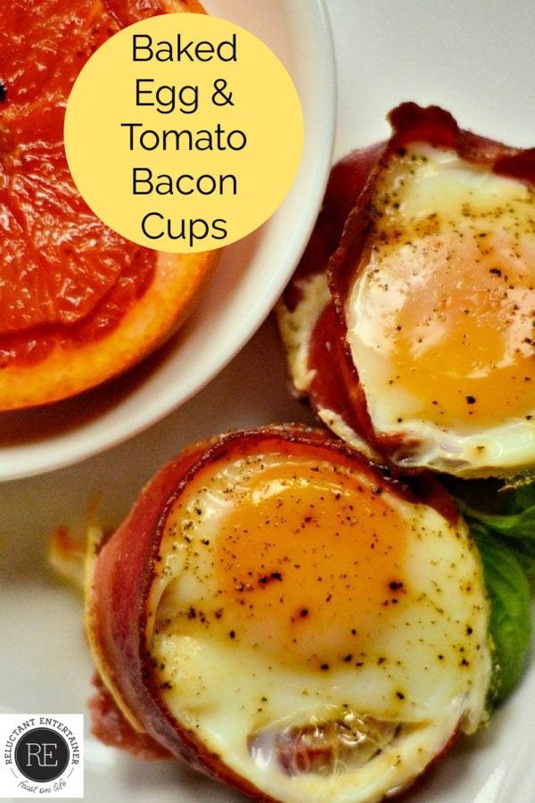 bacon egg tomato cups