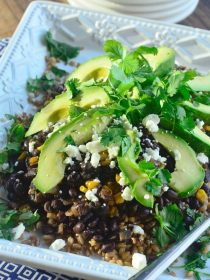 Black Bean with Farro and Avocado