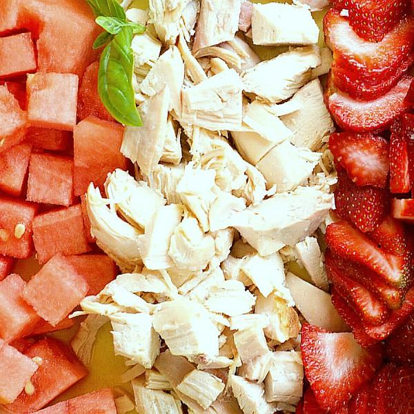 Best Strawberry Watermelon Chicken Salad