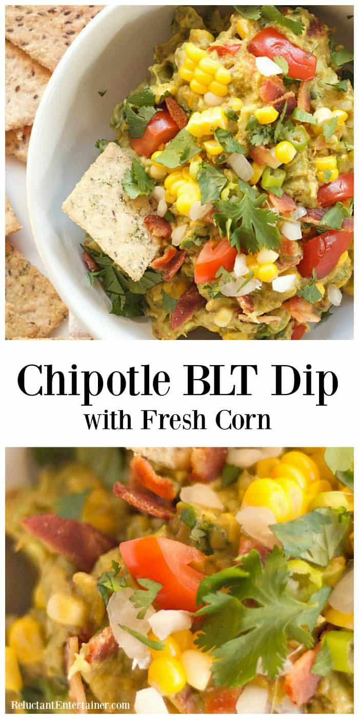 Easy Chipotle BLT Dip with Fresh Corn
