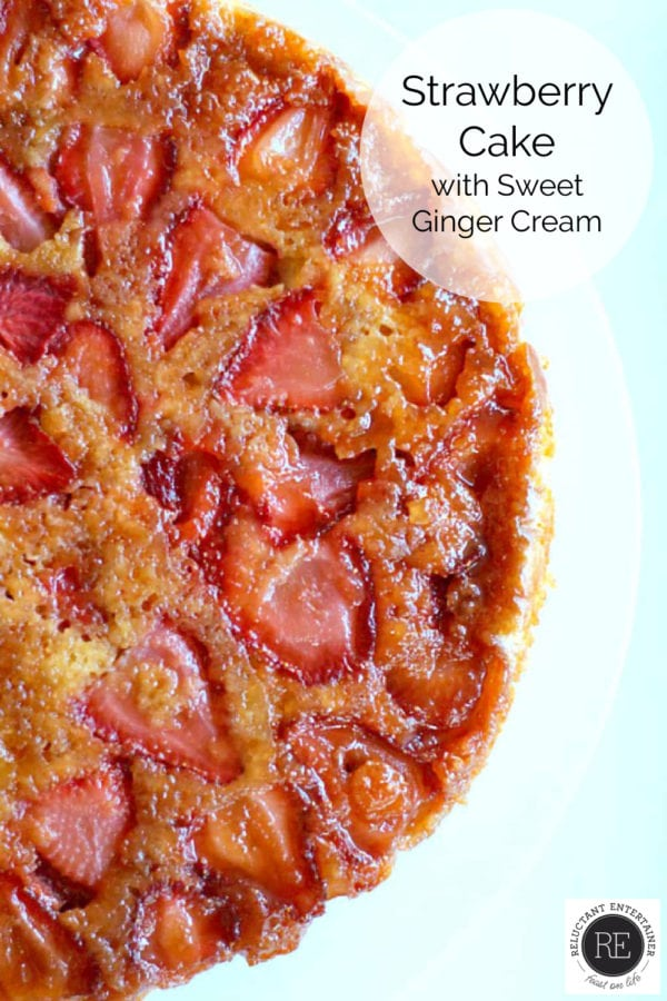 Strawberry Cake Recipe with Sweet Ginger