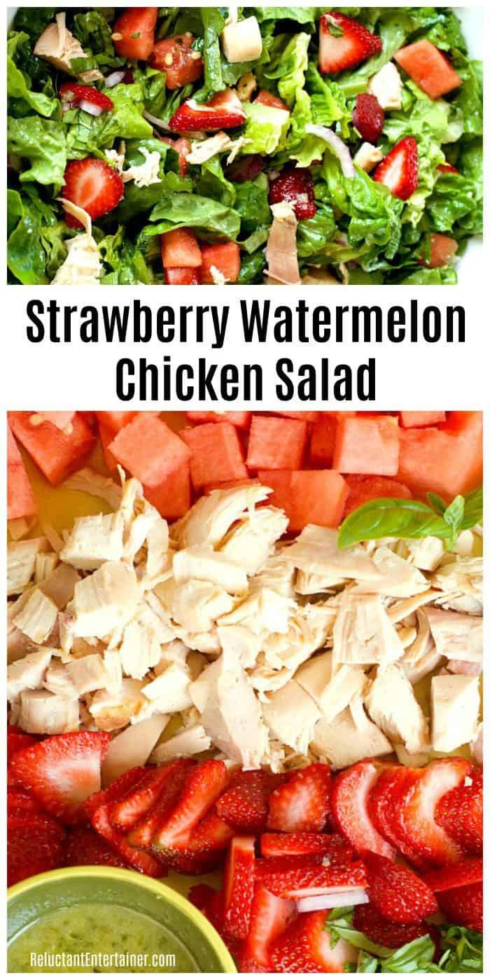 Best Strawberry Watermelon Chicken Salad Recipe