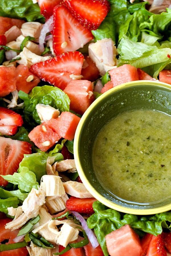 Strawberry Watermelon Chicken Salad Recipe