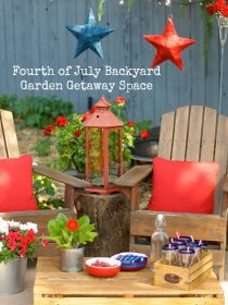 Fourth of July Backyard Garden Getaway Space