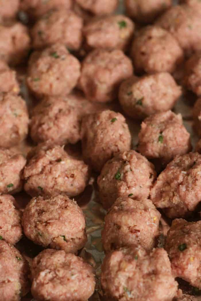 how to make Baked Turkey Meatballs on Polenta