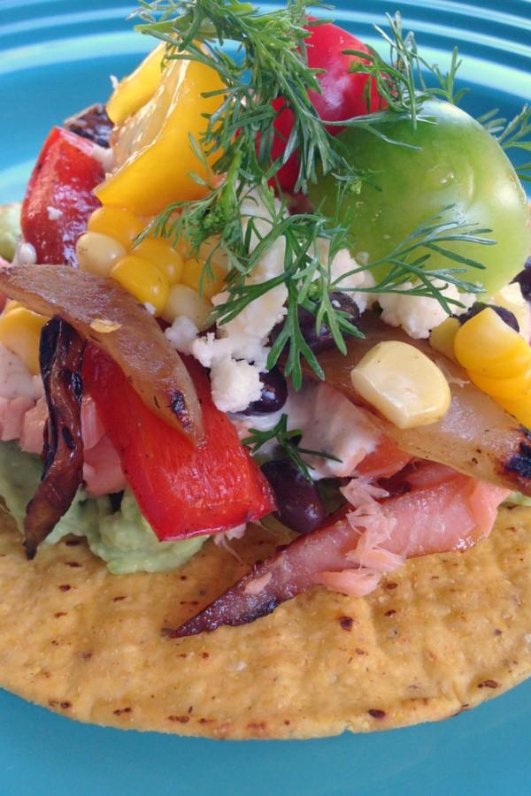 Black Bean Salmon Tostada Recipe