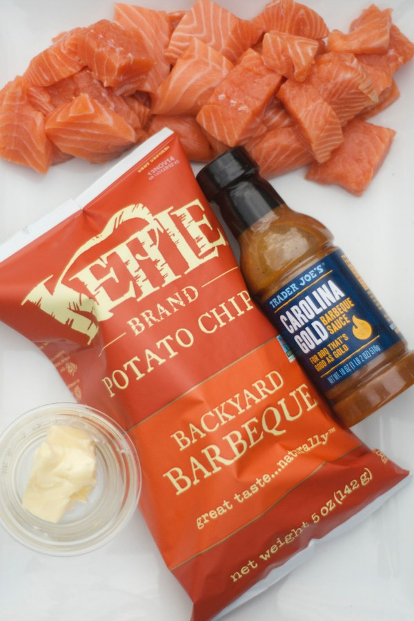 Easy Salmon with Barbecue Chips
