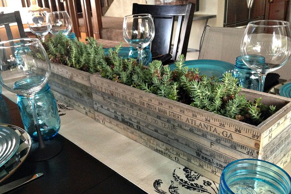 DIY Centerpiece with Succulents