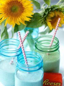 Summertime Peanut Butter Cup Banana Milkshake Recipe