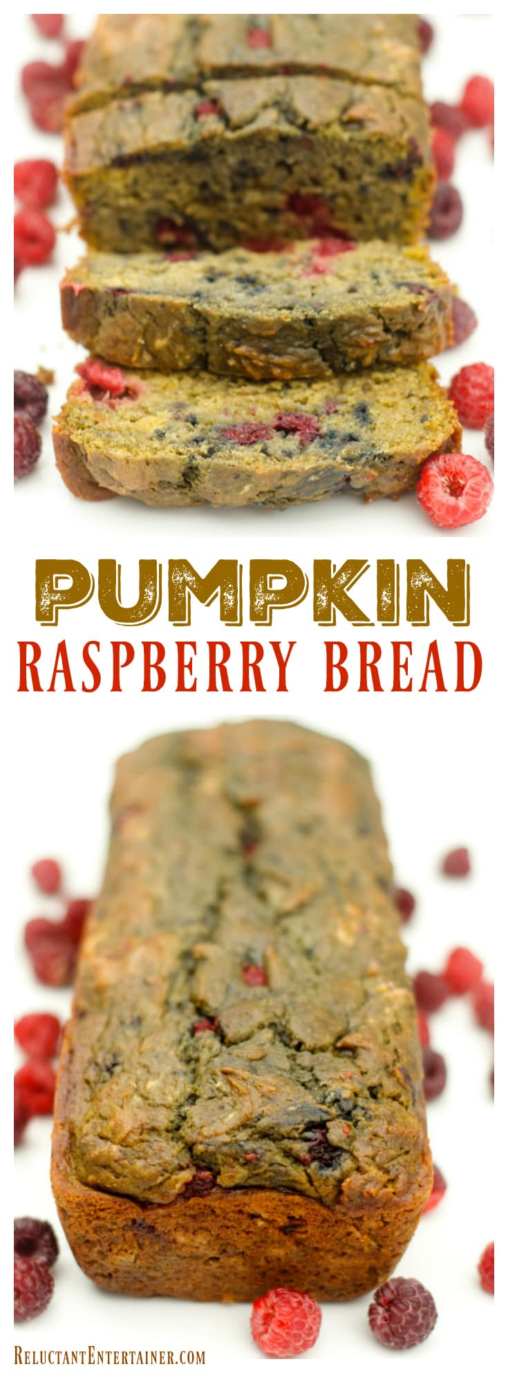 Pumpkin Raspberry Bread