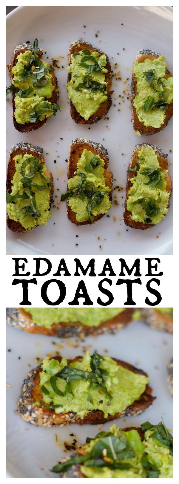 Crunchy Edamame Toasts