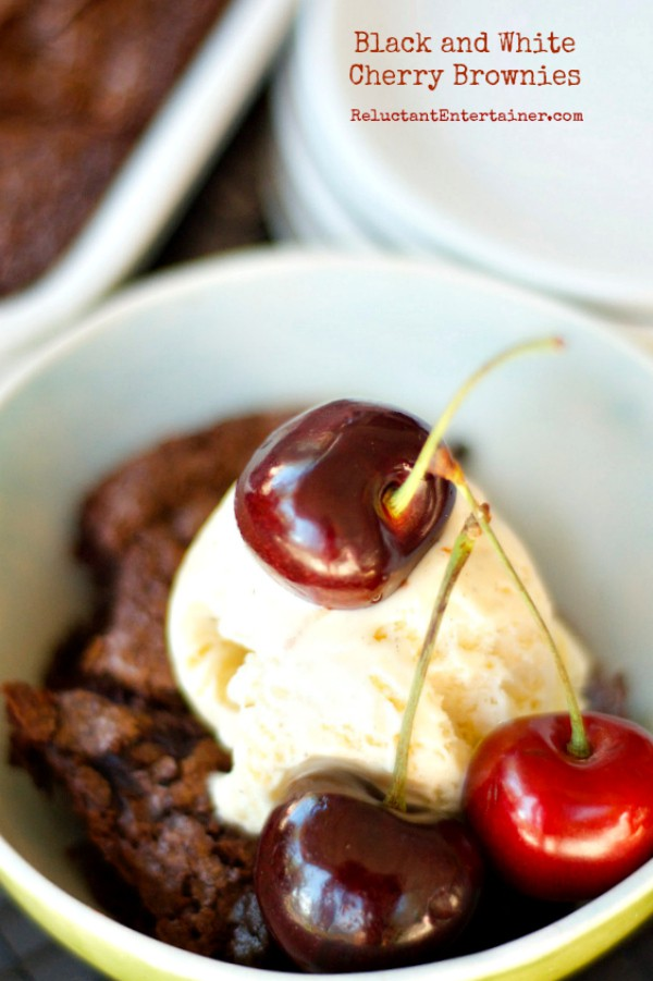 Black and White Cherry Brownies