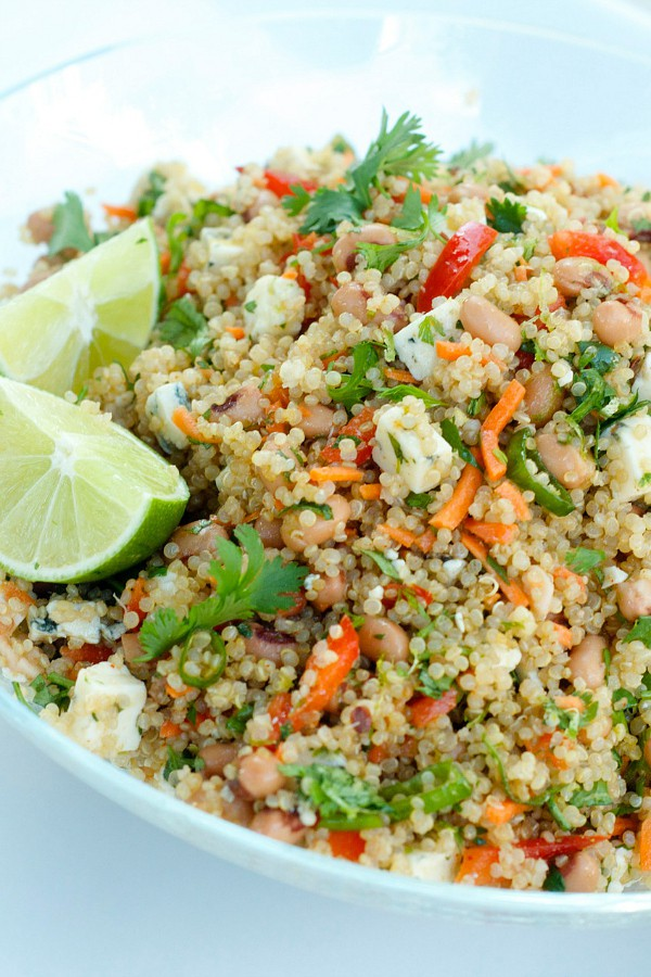 Zesty Lime Blackeye Peas Quinoa Summer Salad