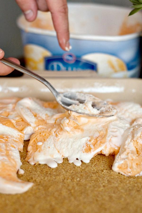 Orange Creamsicle Freezer Dessert | ReluctantEntertainer.com