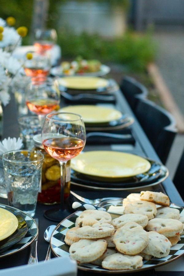 Sunset Party Menu with Bacon and Dill Buttermilk Biscuits