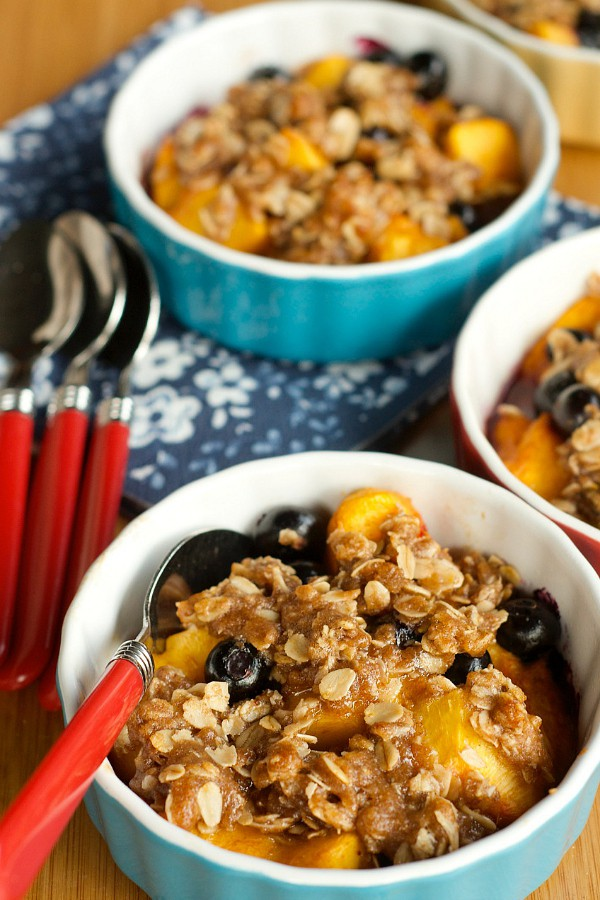 Peach Blueberry Crisp