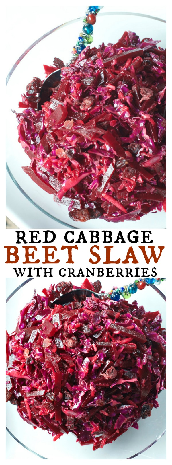 Red Cabbage Beet Slaw with Cranberries