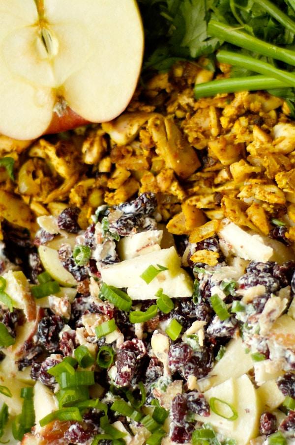 Curried Chicken Salad {SkinnyTaste + Le Creuset Giveaway} | Reluctant Entertainer.com
