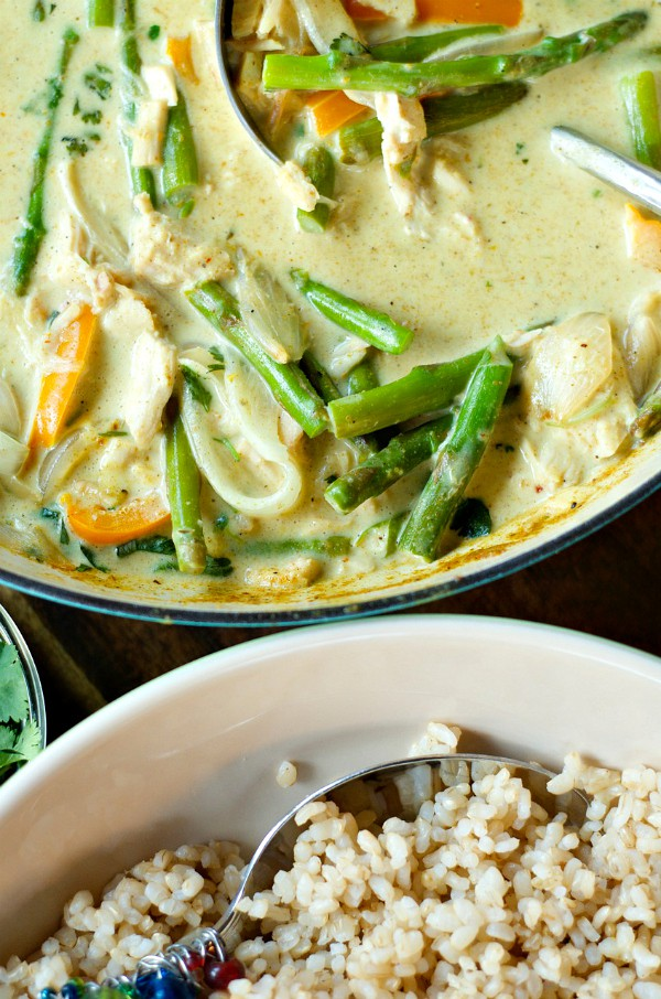 Chicken Curry on Brown Rice | ReluctantEntertainer.com