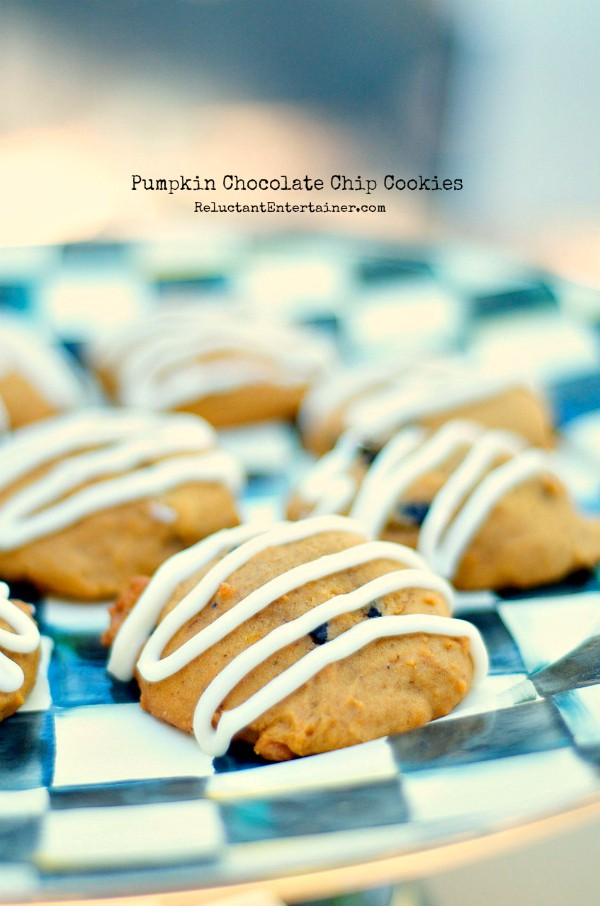 Pumpkin Chocolate Chip Cookies + Violin Story | ReluctantEntertainer.com