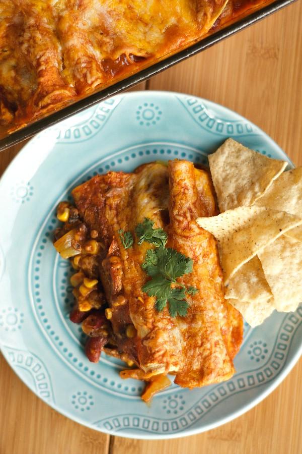 Vegetarian Enchiladas | ReluctantEntertainer.com