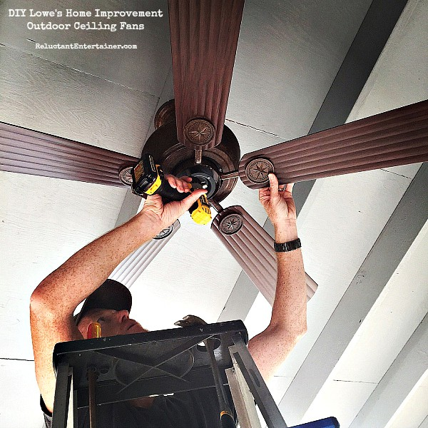 DIY Lowe's Home Improvement: Outdoor Ceiling Fans
