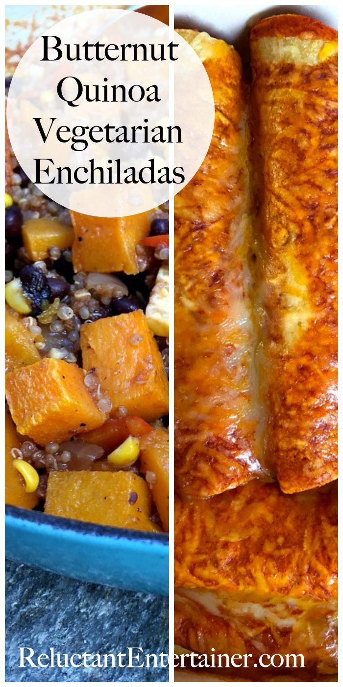 Butternut Quinoa Vegetarian Enchiladas Recipe