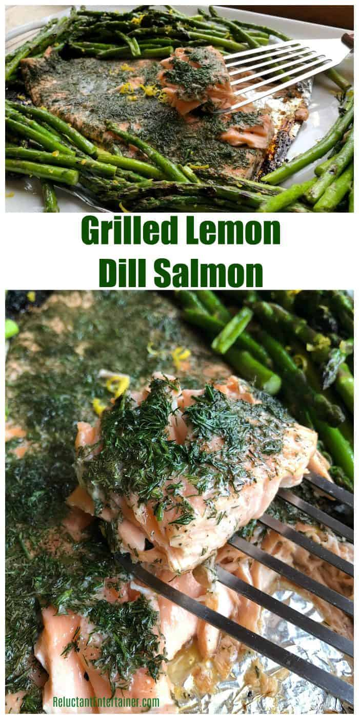Very BEST Grilled Lemon Dill Salmon recipe