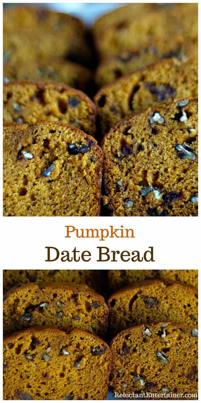 Pumpkin Date Bread Recipe