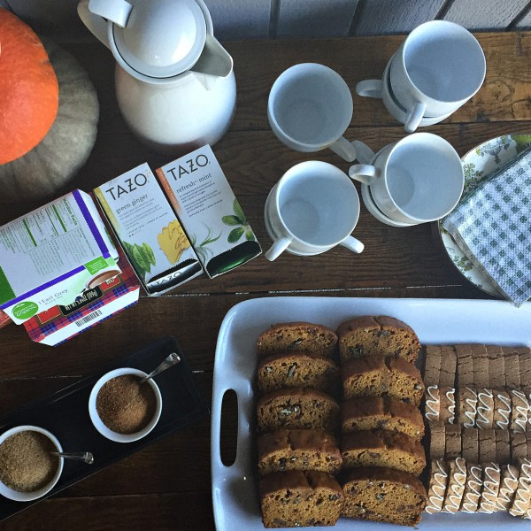 2 Handed Coffee with Pumpkin Date Bread | ReulctantEntertainer.com