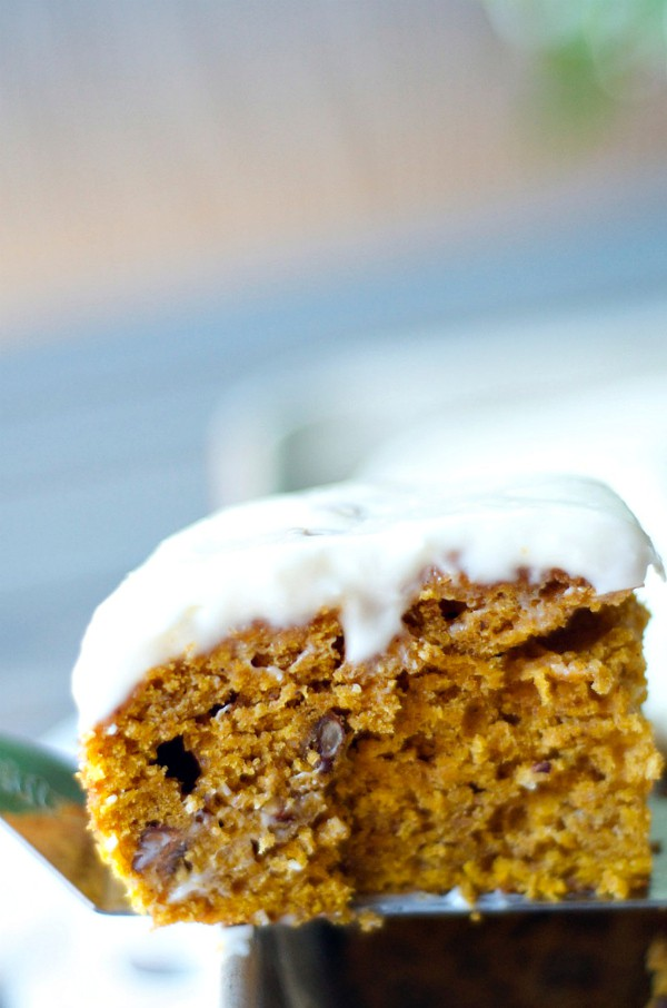 Pumpkin Cake with Maple Frosting | ReluctantEntertainer.com