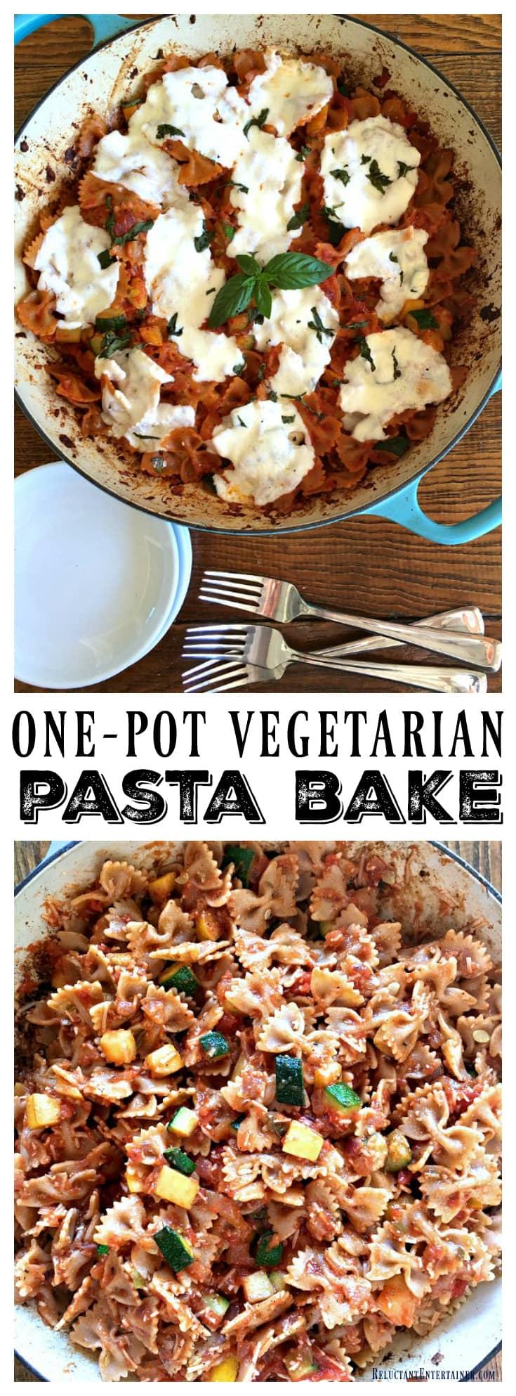 One-Pot Vegetarian Pasta Bake