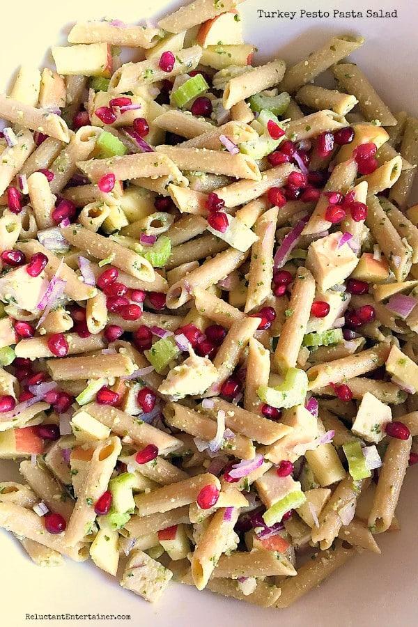 Turkey Pesto Pasta Salad