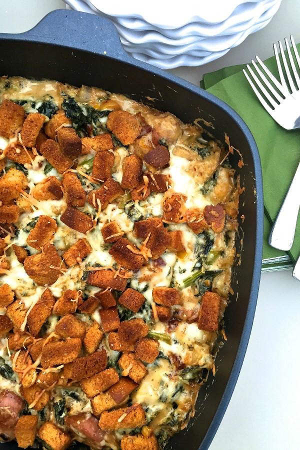 Baked Kale Gratin Recipe