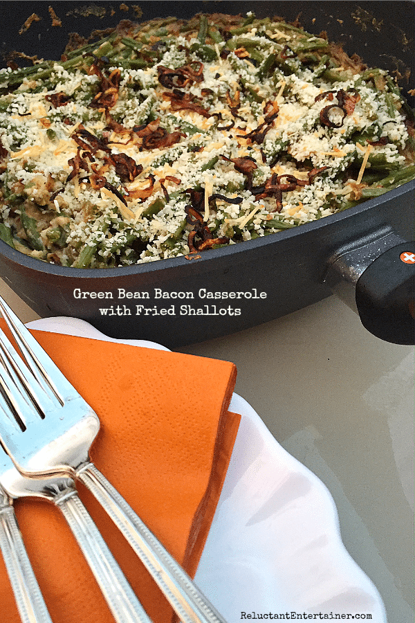 Green Bean Bacon Casserole with Fried Shallots