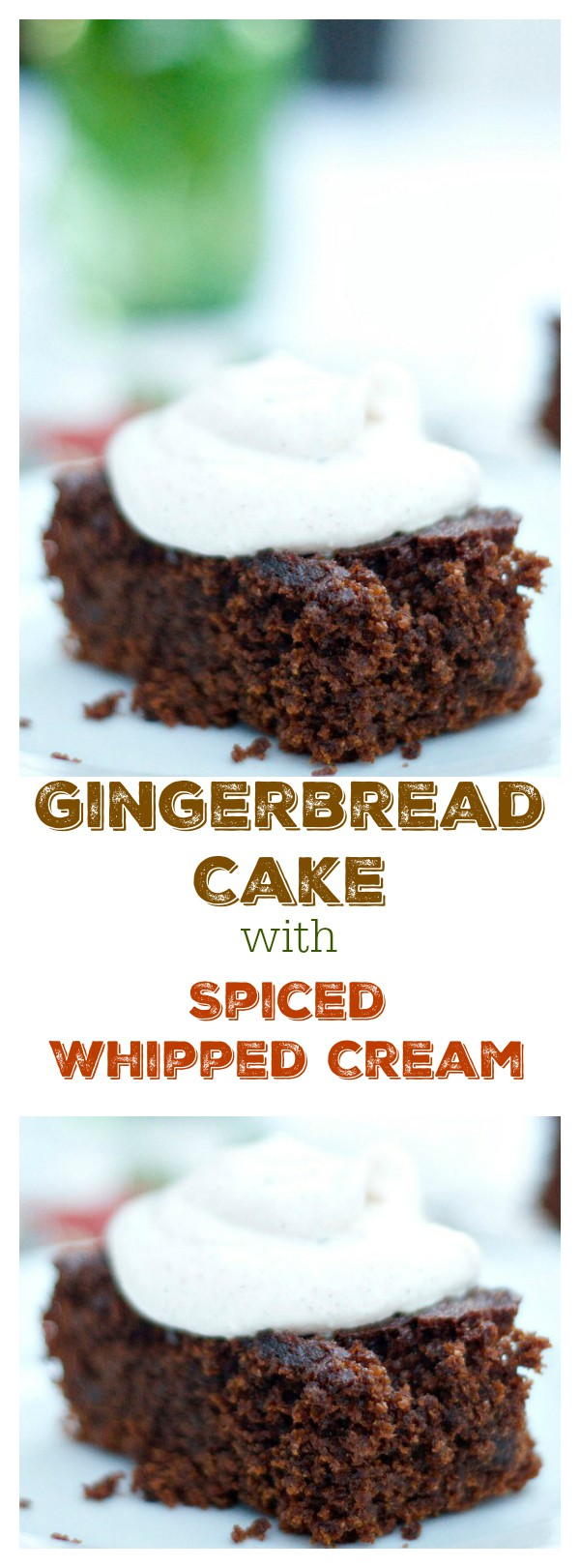 Light a fire, and have some friends over to enjoy a harvest-themed, special holiday dinner party with Gingerbread Cake with Spiced Whipped Cream for dessert!