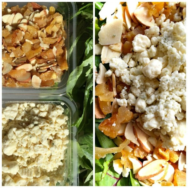 DeLallo's SaladSavors Pear, Cheese, and Almonds with Maple Balsamic Vinaigrette
