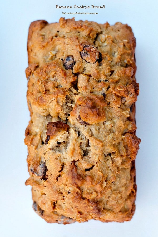 Banana Cookie Bread | ReluctantEntertainer.com